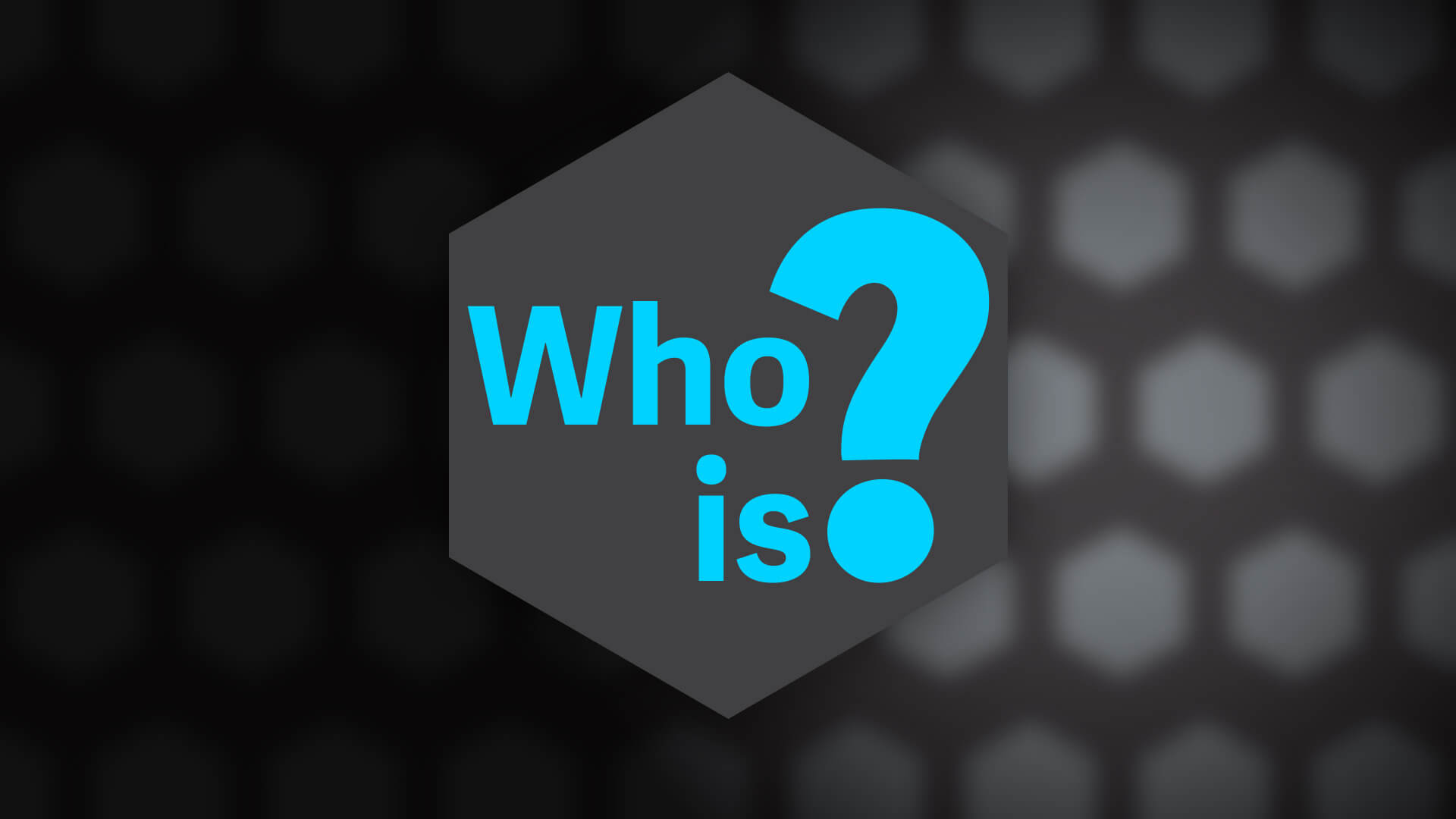 Who is? banner.